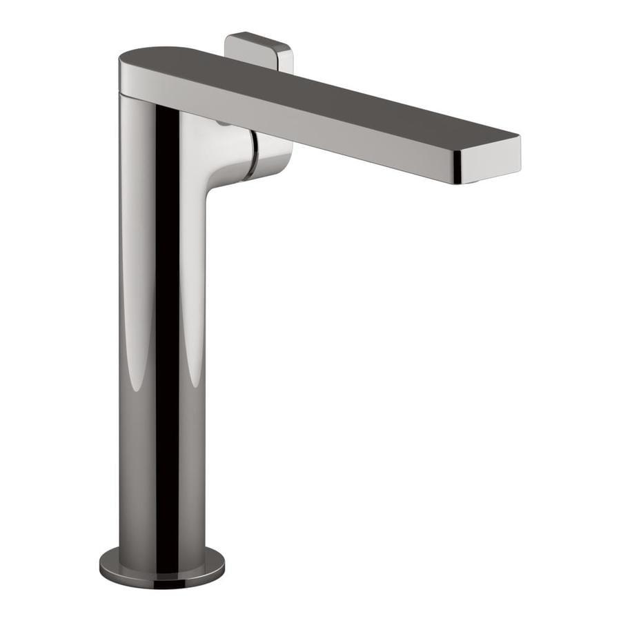 KOHLER Composed Vibrant Titanium 1-handle Single Hole Bathroom Sink Faucet