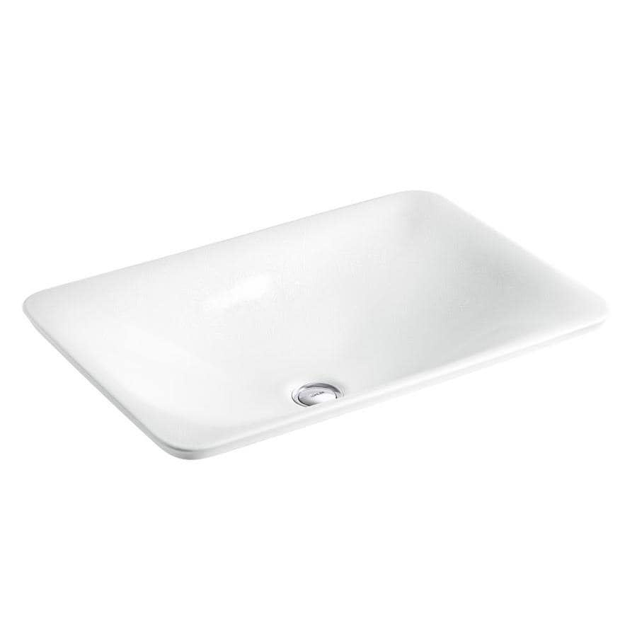 Shop kohler artist editions sartorial french paisely vessel rectangular bathroom sink at - Kitchen sink in french ...