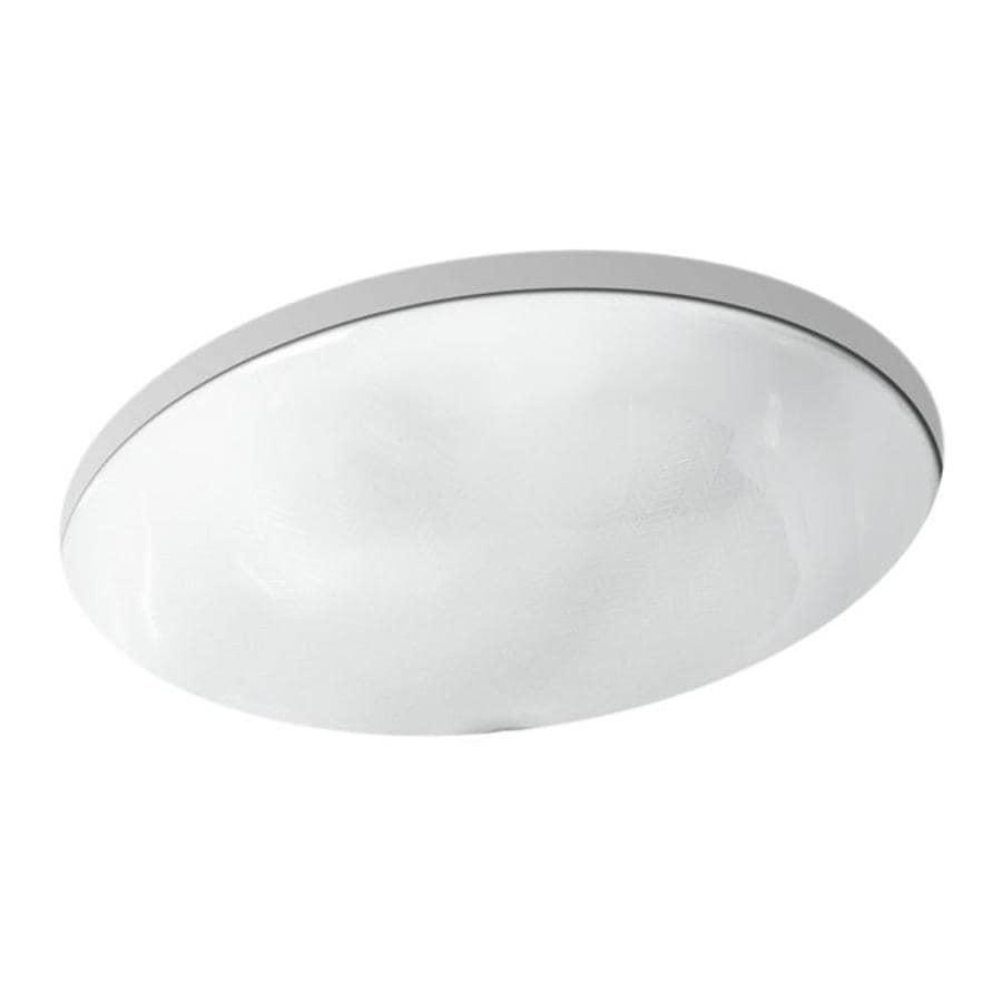 shop kohler caxton herringbone undermount oval bathroom