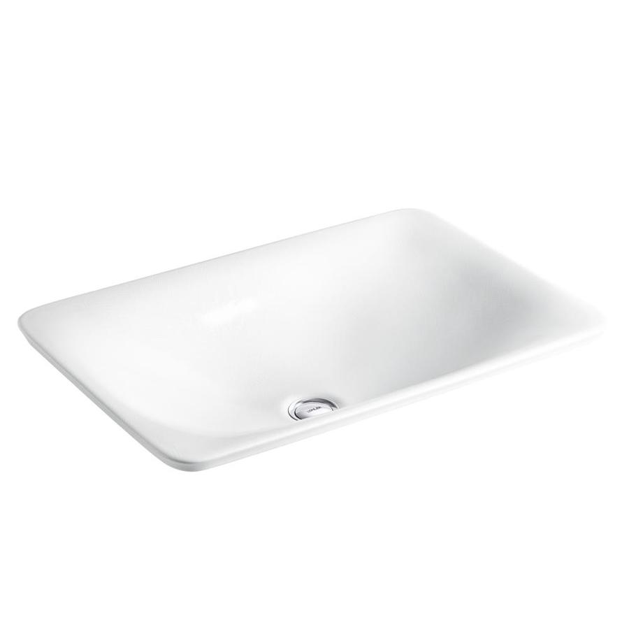KOHLER Artist Editions Sartorial Herringbone Vessel Rectangular Bathroom Sink