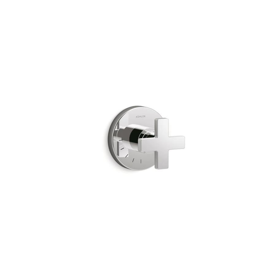 KOHLER Composed™ Volume Control Valve Trim with Cross Handle, Valve Not Included, Polished Chrome