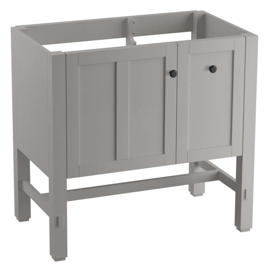 KOHLER Tresham Mohair Grey Bathroom Vanity (Common: 36-in x 22-in; Actual: 36-in x 21.87-in)