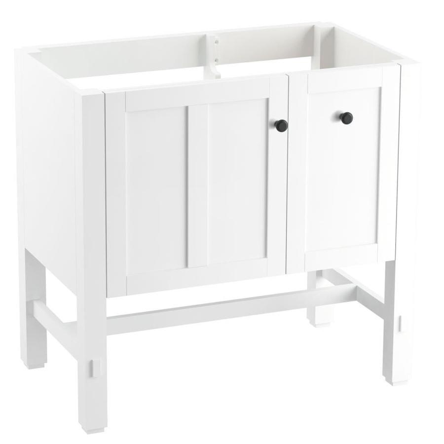KOHLER Tresham Linen White 30-in Contemporary Bathroom Vanity