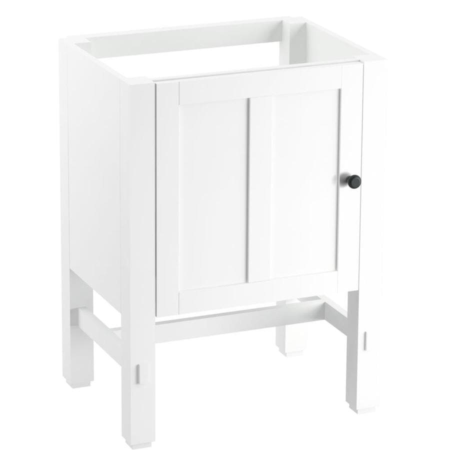 KOHLER Tresham Linen White Bathroom Vanity (Common: 24-in x 19-in; Actual: 23.75-in x 18.125-in)