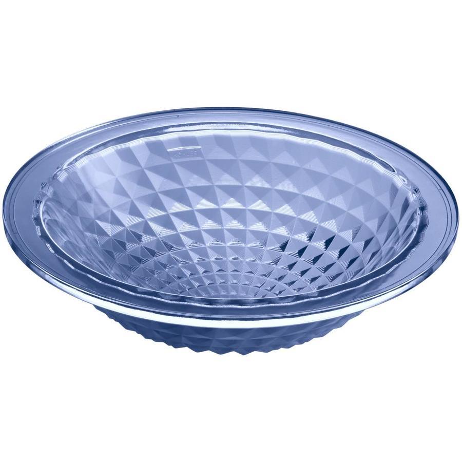 Shop KOHLER Kallos Translucent Sapphire Glass Undermount Round ...