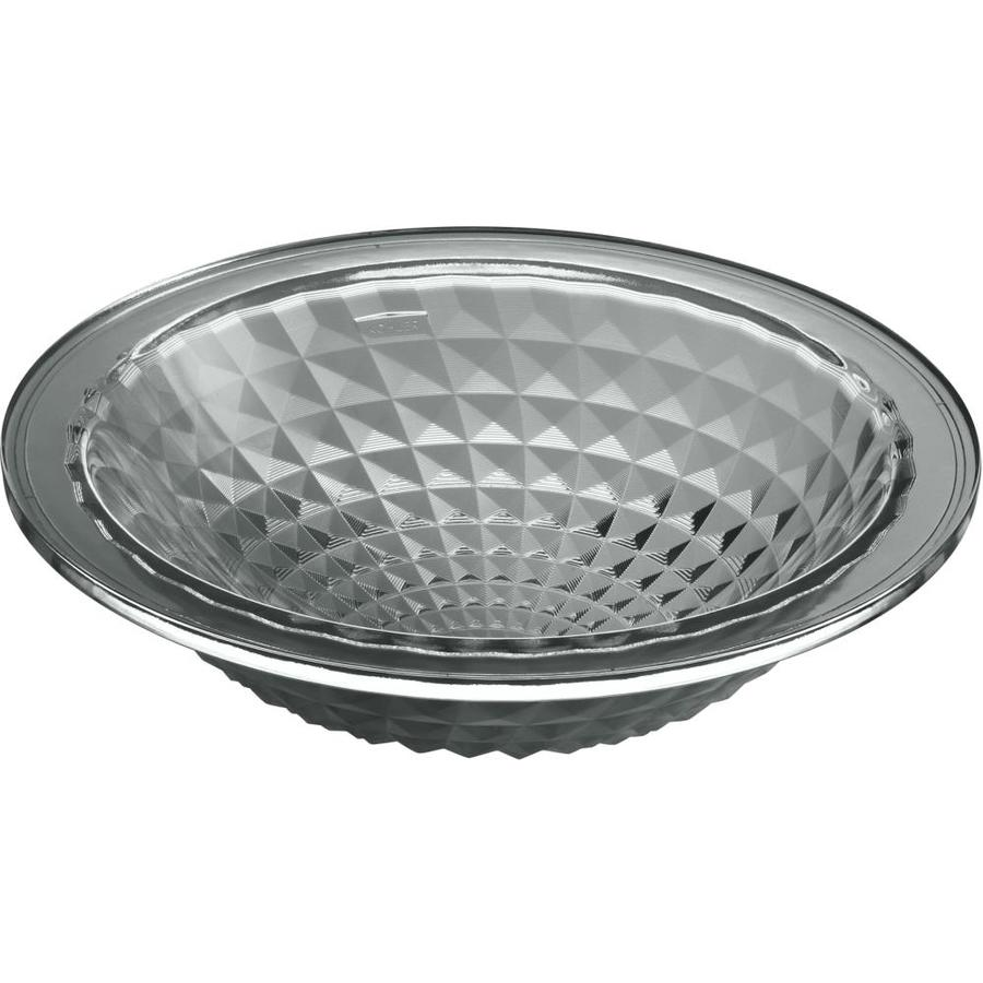 KOHLER Kallos Translucent Stone Glass Undermount Round Bathroom Sink