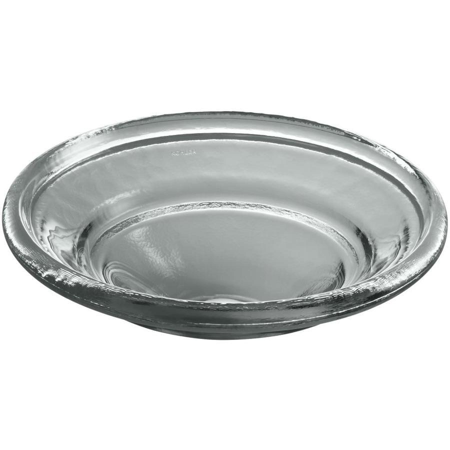 KOHLER Spun Glass Translucent Stone Glass Drop-in Round Bathroom Sink