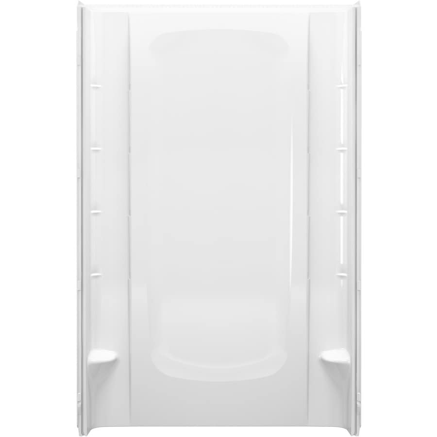 Sterling STOREplus White Shower Wall Surround Back Panel (Common: 48-in x 3-in; Actual: 72.5-in x 48-in x 3-in)