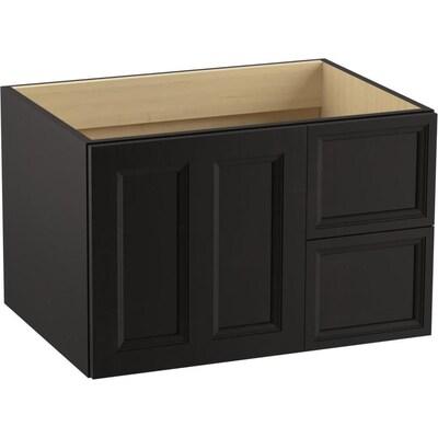 Kohler Damask 30 In Batiste Black Bathroom Vanity Cabinet At Lowes Com