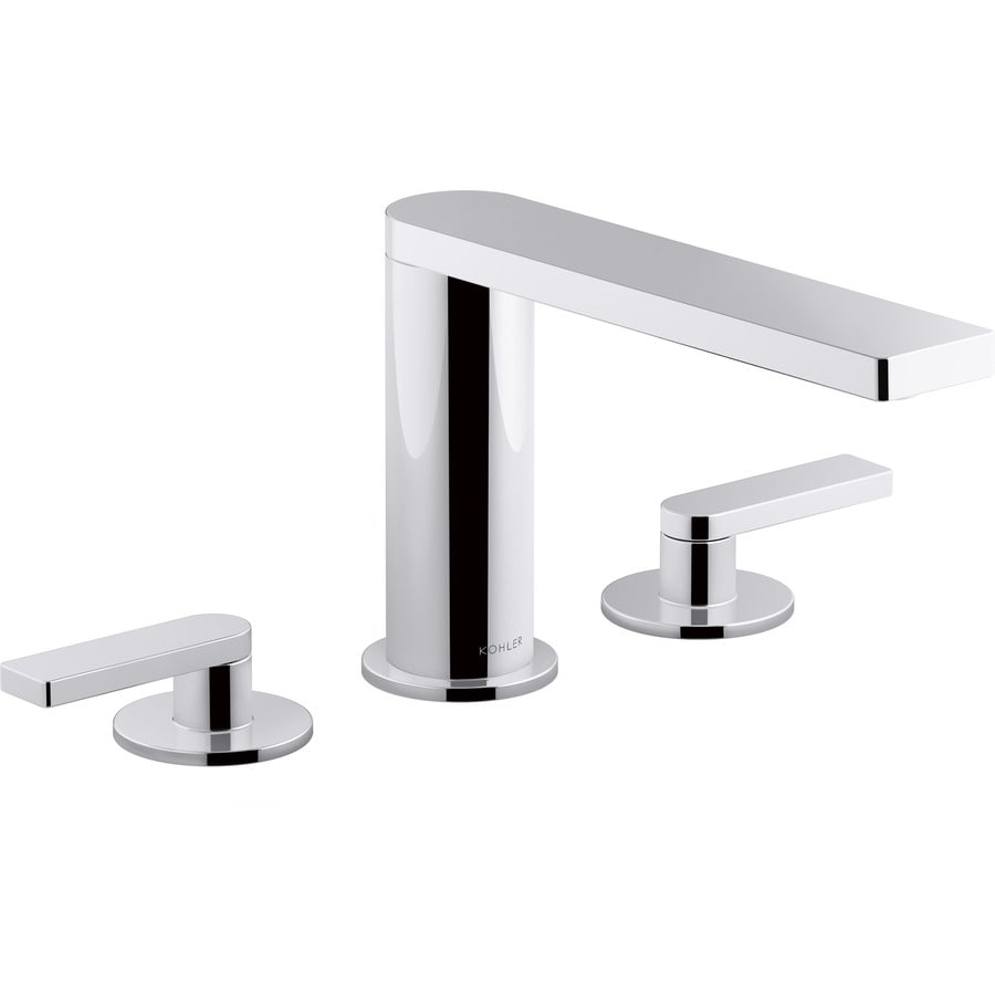 KOHLER Composed Polished Chrome 2-Handle Widespread Bathroom Sink Faucet