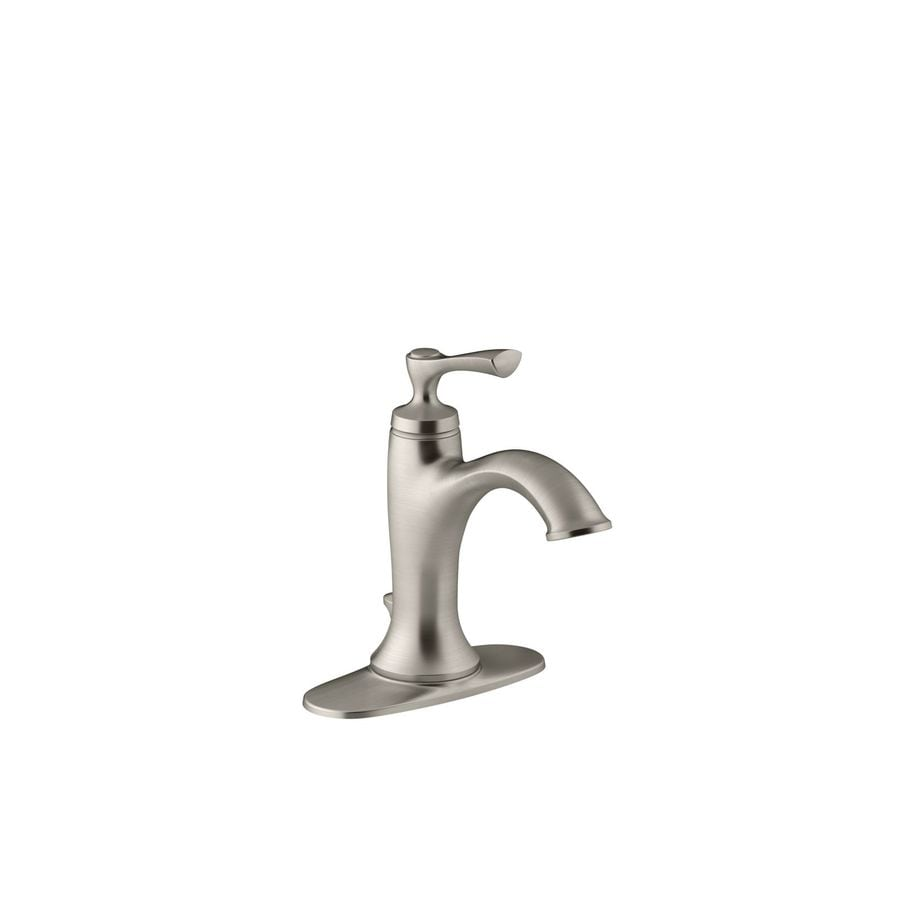 Shop KOHLER Elliston Vibrant Brushed Nickel 1 Handle Single Hole WaterSense B