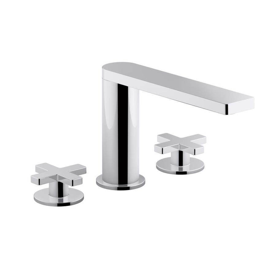 KOHLER Composed Polished Chrome 2-handle Widespread Bathroom Sink Faucet