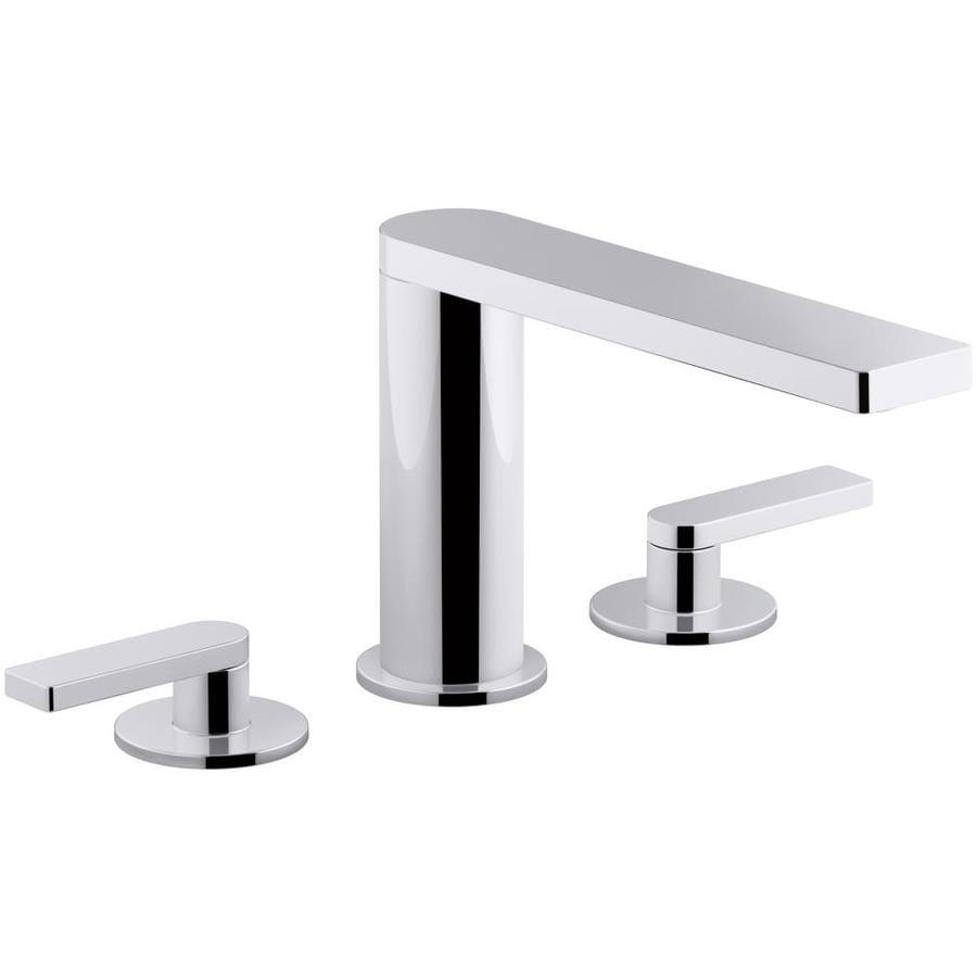 KOHLER Composed Polished Chrome 2-Handle 4-in Centerset Bathroom Sink Faucet