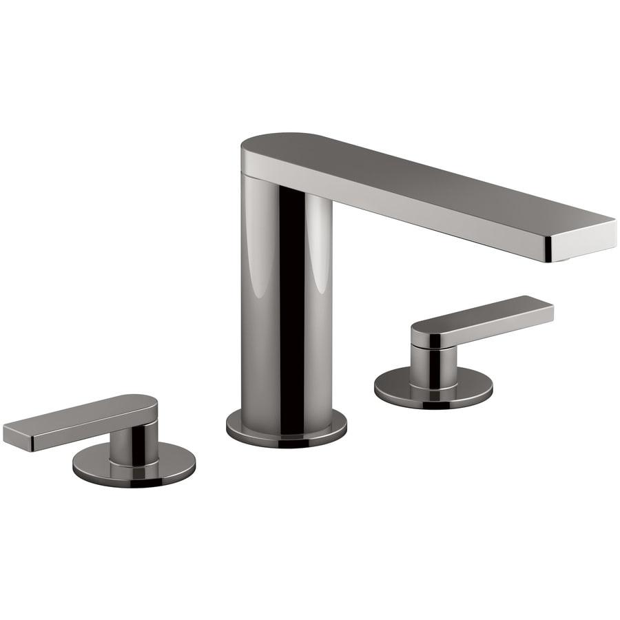 KOHLER Composed Vibrant Titanium 2-Handle 4-in Centerset Bathroom Sink Faucet