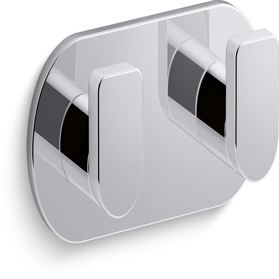 KOHLER Composed 2-Hook Polished Chrome Towel Hook