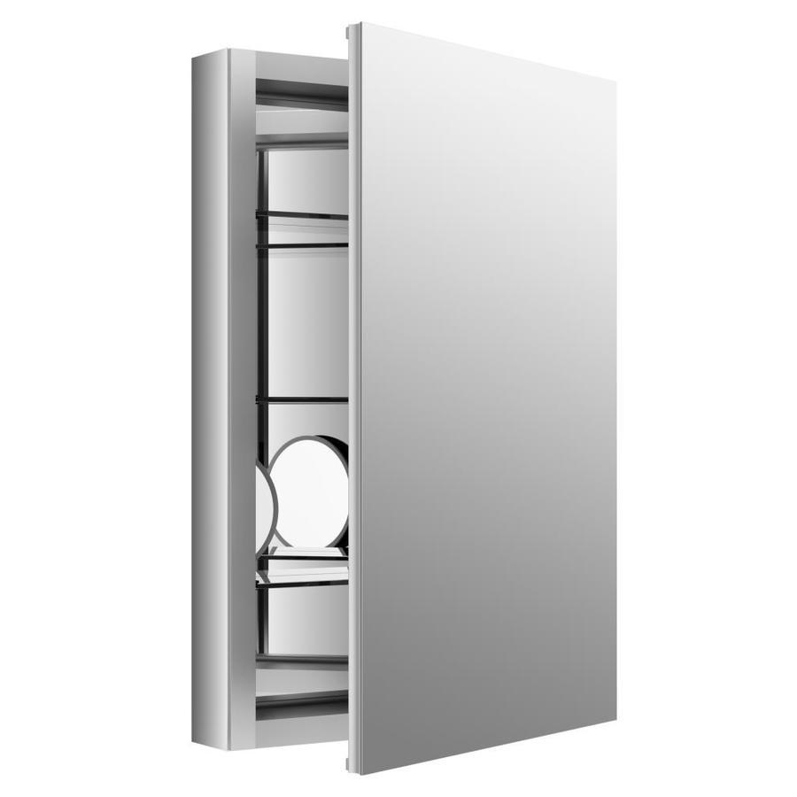 shop kohler verdera 20 in x 30 in rectangle recessed aluminum mirrored medicine cabinet at. Black Bedroom Furniture Sets. Home Design Ideas