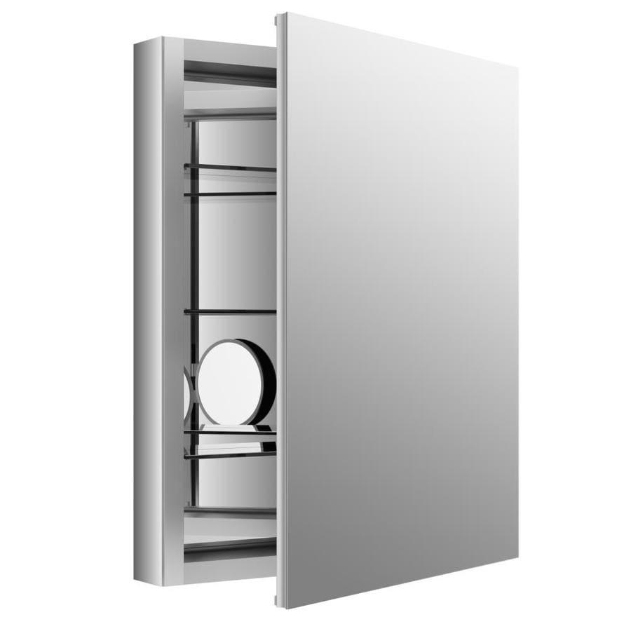 KOHLER Verdera 24-in x 30-in Rectangle Recessed Aluminum Mirrored Medicine Cabinet