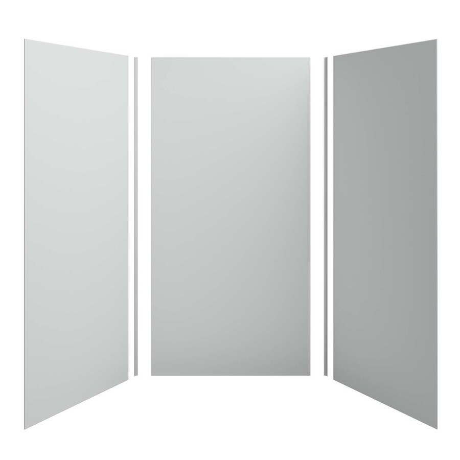 KOHLER Choreograph Ice Grey Shower Wall Surround Side and Back Panels (Common: 48-in x 48-in; Actual: 96.0-in x 48.0-in x 48.0-in)