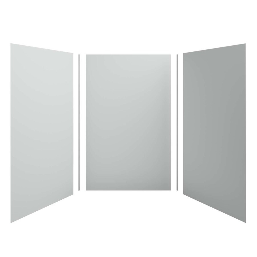 KOHLER Choreograph Ice Grey Shower Wall Surround Side and Back Panels (Common: 60-in x 60-in; Actual: 96.0000-in x 60.0000-in x 60.0000-in)