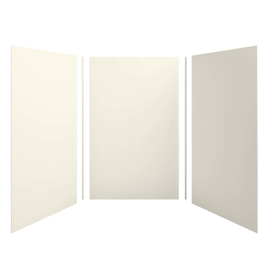 KOHLER Choreograph Biscuit Shower Wall Surround Side and Back Panels (Common: 60-in x 60-in; Actual: 96.0000-in x 60.0000-in x 60.0000-in)
