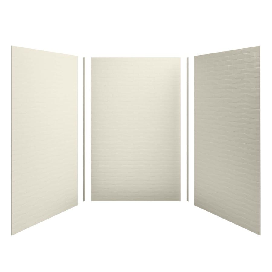 KOHLER Choreograph Almond Shower Wall Surround Side and Back Panels (Common: 60-in x 60-in; Actual: 96.0000-in x 60.0000-in x 60.0000-in)