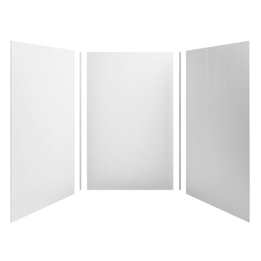 KOHLER Choreograph White Shower Wall Surround Side and Back Panels (Common: 60-in x 60-in; Actual: 96.0-in x 60.0-in x 60.0-in)