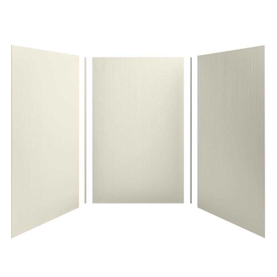 KOHLER Choreograph Almond Shower Wall Surround Side and Back Panels (Common: 60-in x 60-in; Actual: 96.0-in x 60.0-in x 60.0-in)