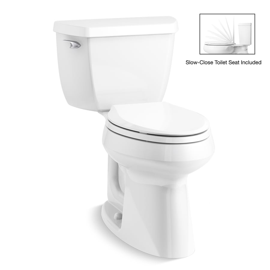 KOHLER HIGHLINE White WaterSense Labeled  Elongated Chair Height 2-piece Toilet 12-in Rough-In Size