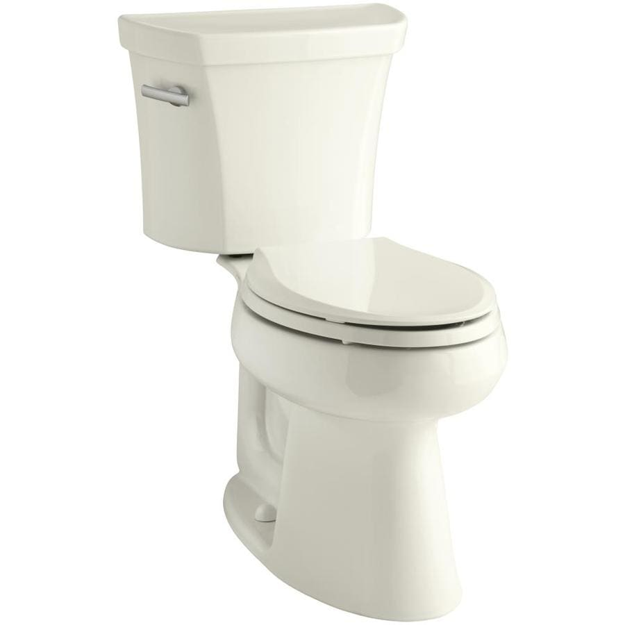 KOHLER Highline Biscuit WaterSense Labeled  Elongated Chair Height 2-piece Toilet 12-in Rough-In Size