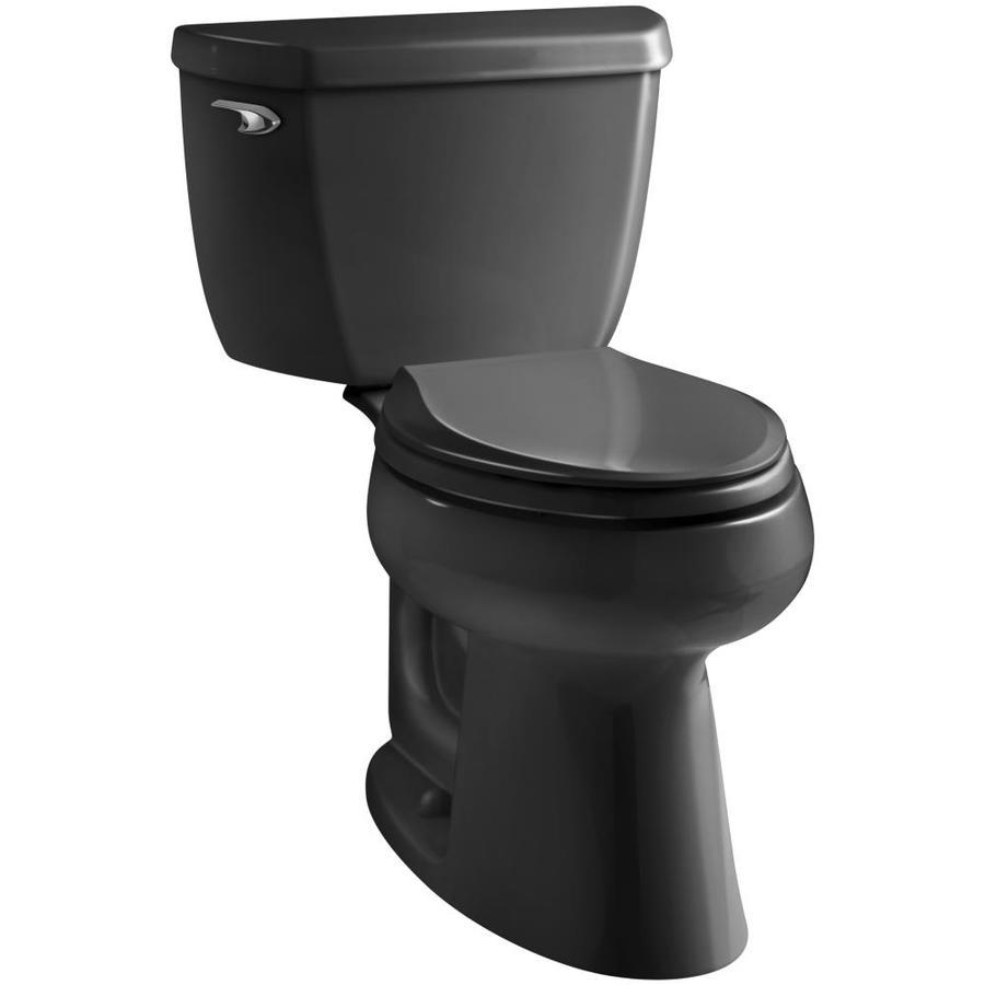 Kohler Highline Black Watersense Labeled Elongated Chair