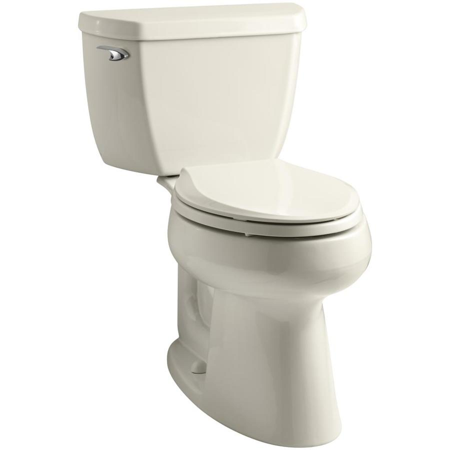 KOHLER Highline 1-GPF (3.79-LPF) Almond Elongated Chair Height 2-piece Toilet