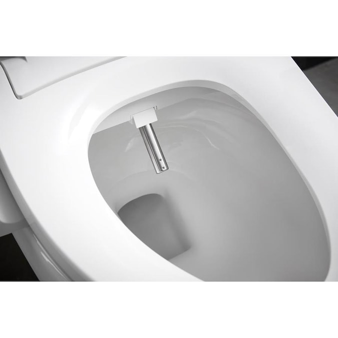 Kohler C3 050 White Elongated Slow Close Heated Bidet Toilet Seat In The Toilet Seats Department At Lowes Com