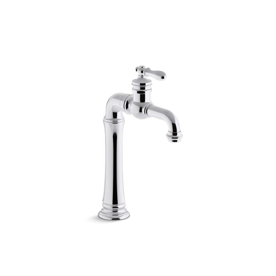 Shop kohler artifacts polished chrome 1 handle single hole bathroom sink faucet at for Kohler bathroom single hole faucets