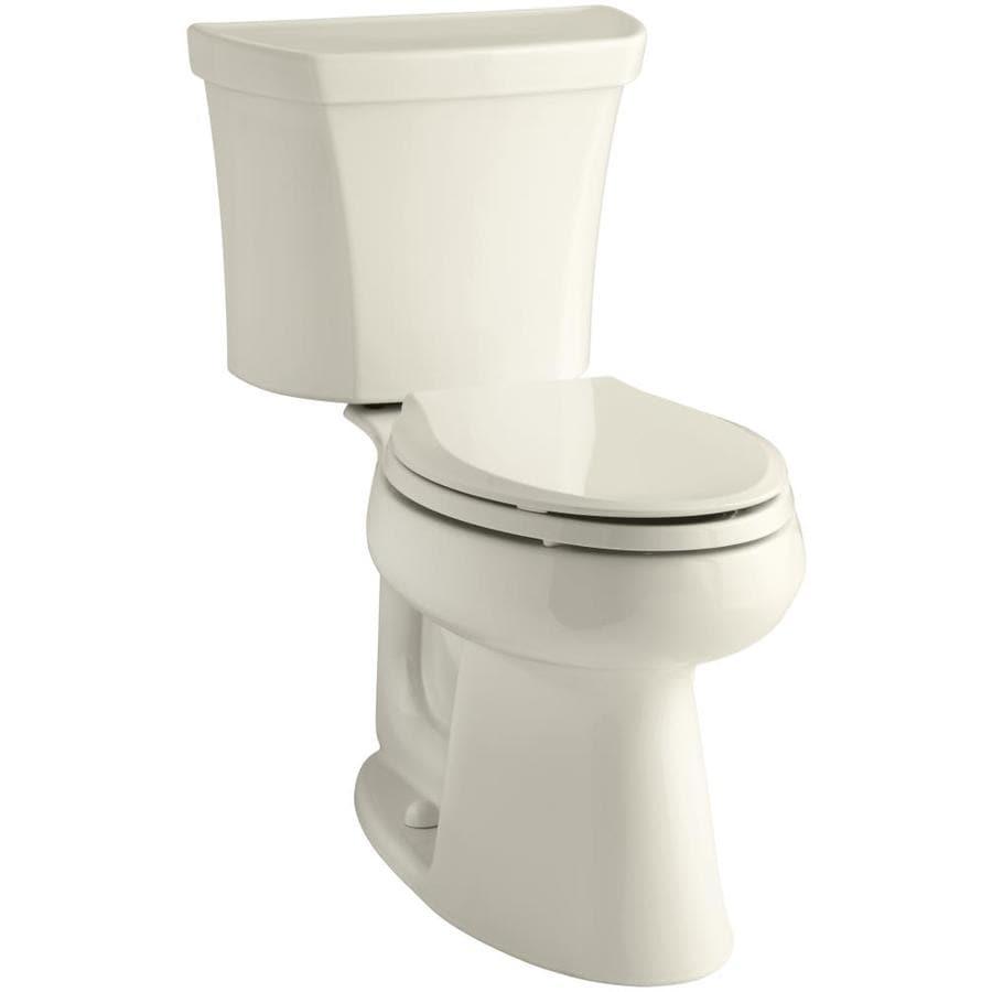 KOHLER Highline 1-GPF (3.79-LPF) Almond Elongated Chair Height 2-piece Toilet