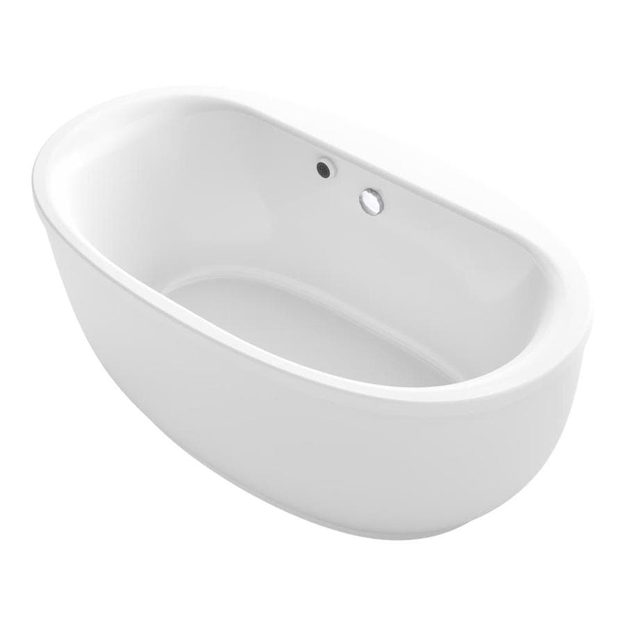 Shop KOHLER Sunstruck 65 5 In White Acrylic Freestanding