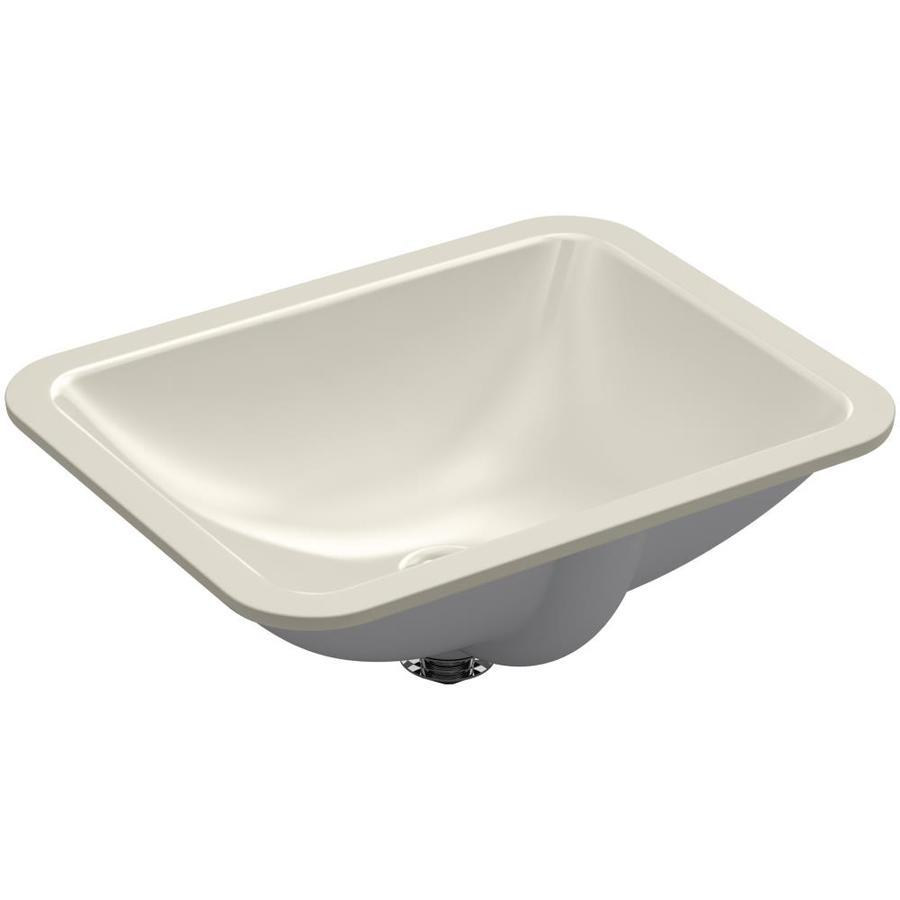 KOHLER Caxton Sandbar Undermount Rectangular Bathroom Sink with Overflow