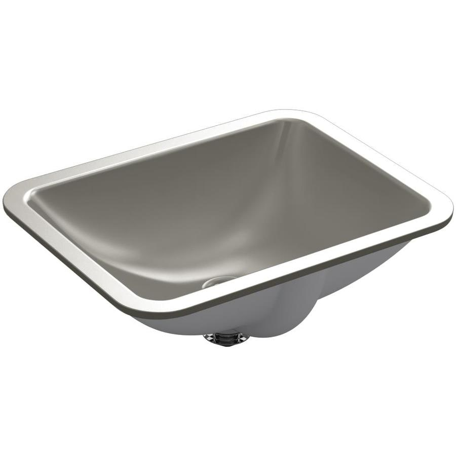 Kohler Rectangular Sink : Shop KOHLER Caxton Cashmere Undermount Rectangular Bathroom Sink with ...