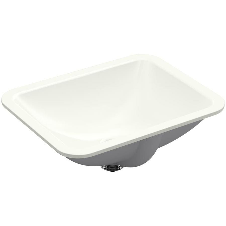 KOHLER Caxton Dune Undermount Rectangular Bathroom Sink with Overflow