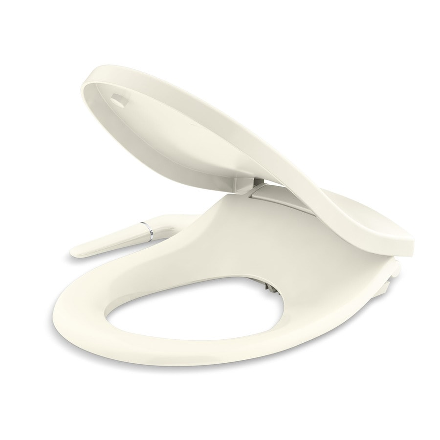 Kohler Puretide Biscuit Round Slow Close Bidet Toilet Seat In The Toilet Seats Department At Lowes Com