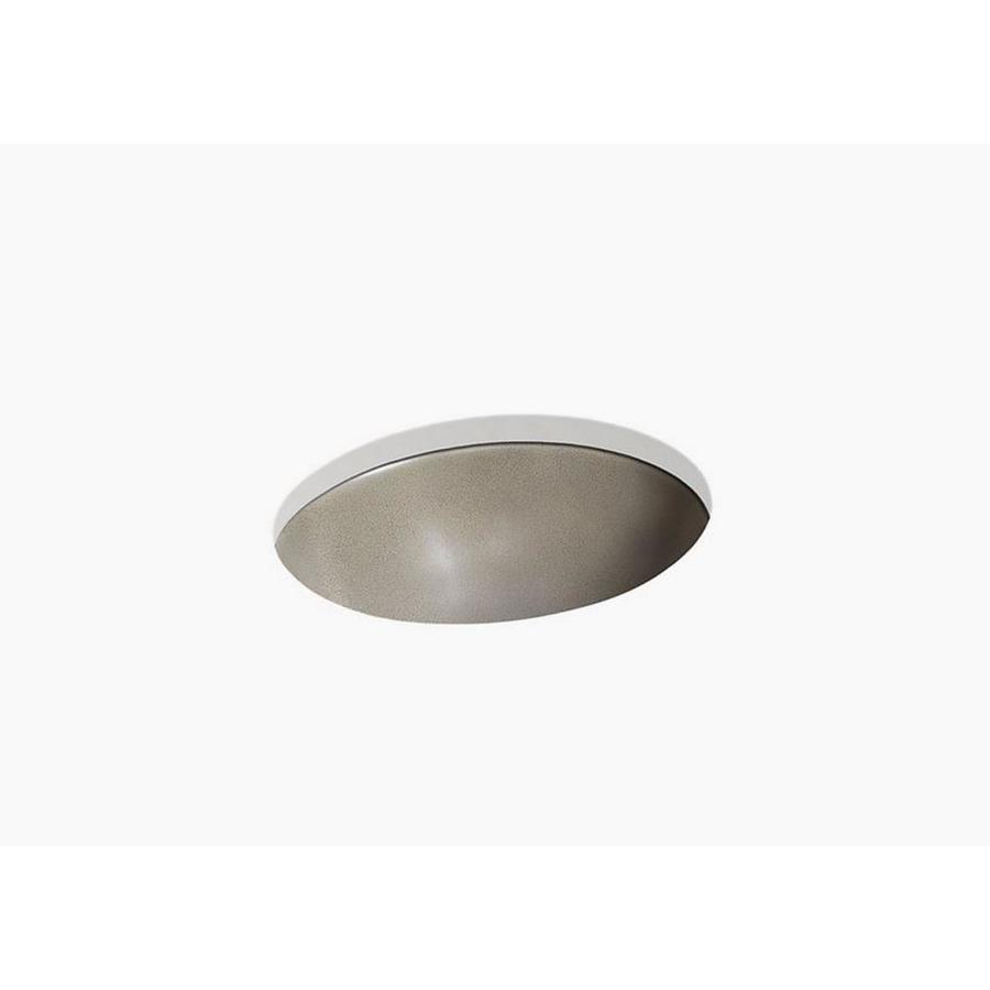 KOHLER Shagreen On Caxton Oyster Pearl Composite Oval Undermount Bathroom  Sink