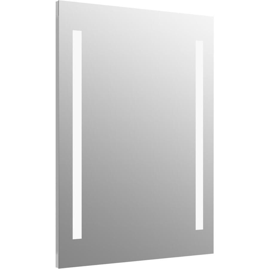 Shop KOHLER Verdera 24-in x 33-in Rectangular Lighted Bathroom ...