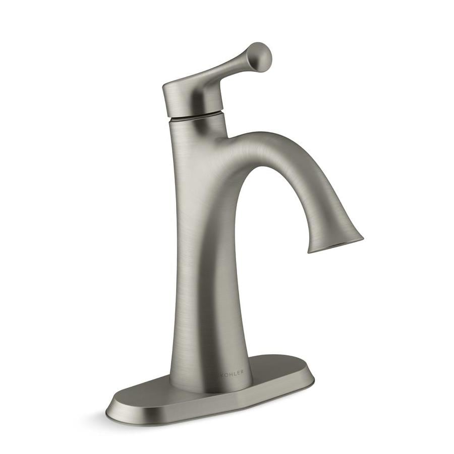 Shop KOHLER Lilyfield Brushed Nickel 1-Handle Single Hole/4-in ...