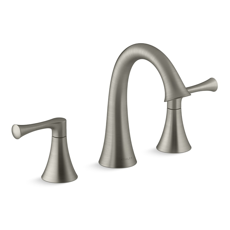 Shop KOHLER Lilyfield Brushed Nickel 2-handle Widespread Bathroom ...