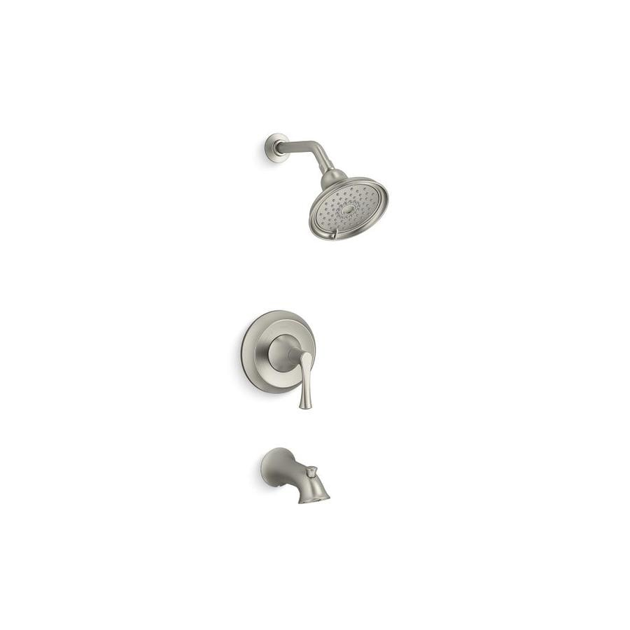 kohler lilyfield brushed nickel 1handle bathtub and shower faucet with valve