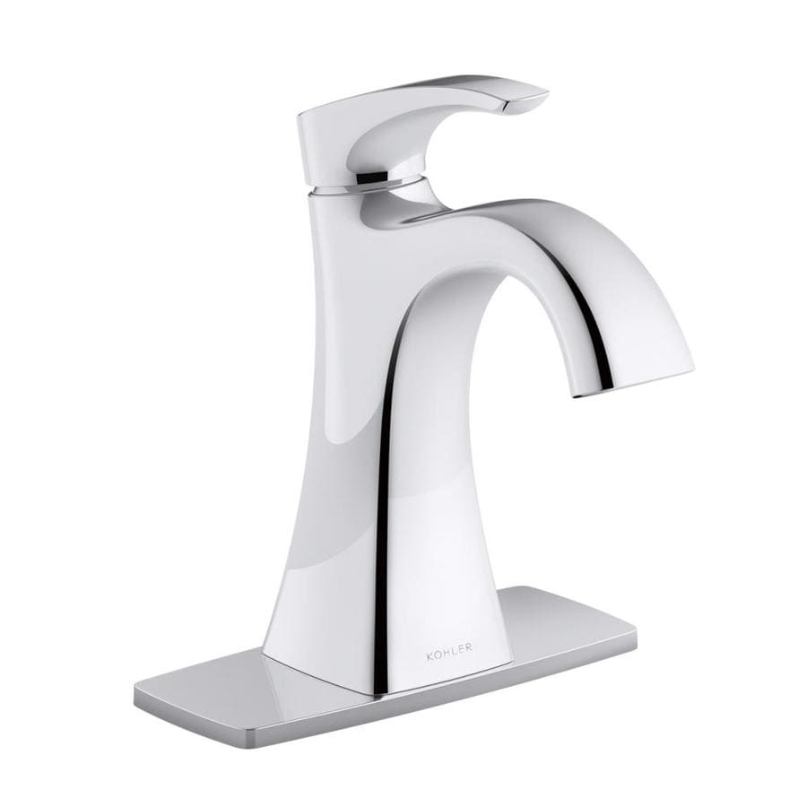 Kohler maxton polished chrome 1 handle single hole 4 in - Kohler two tone bathroom faucets ...