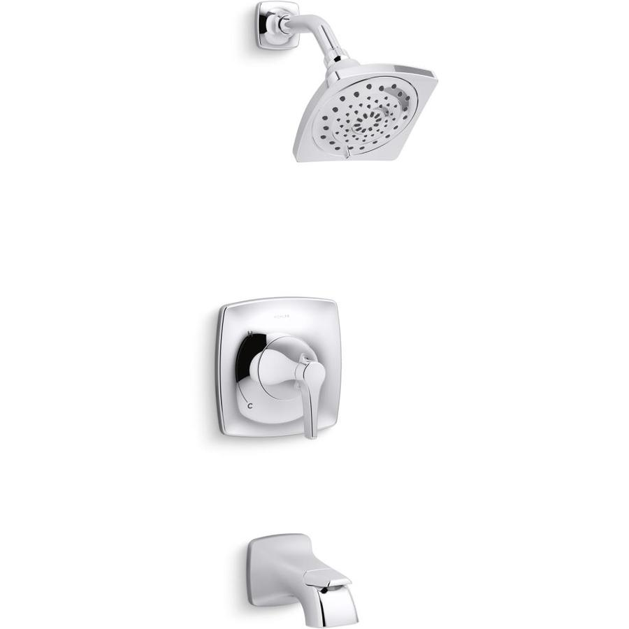 KOHLER Maxton Polished Chrome 1-Handle Bathtub and Shower Faucet with Valve