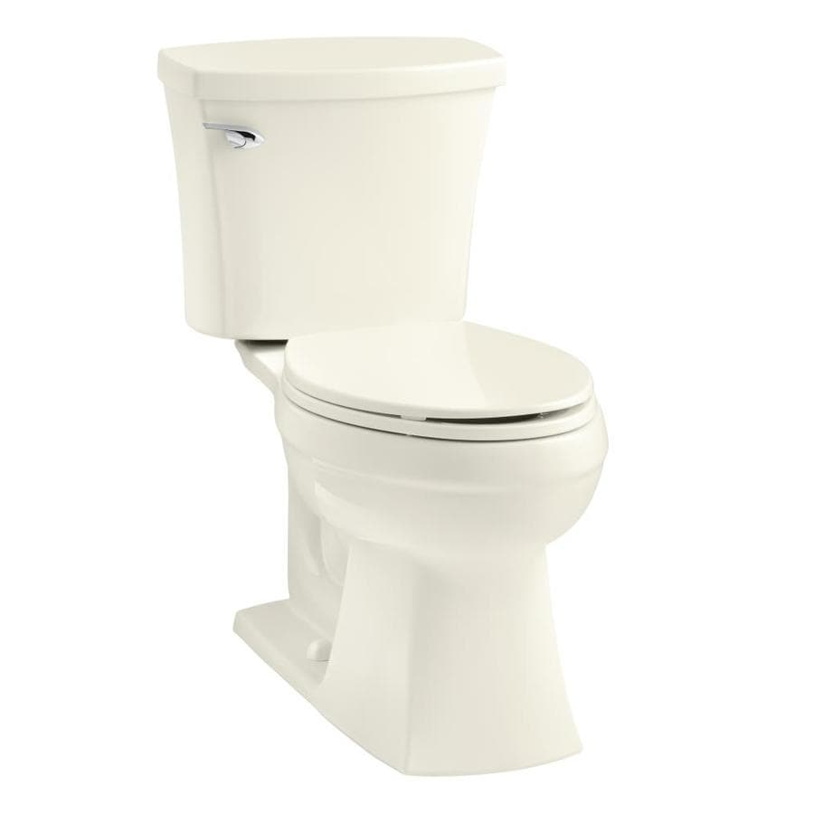 Kohler Elliston Biscuit Watersense Labeled Elongated Comfort Height 2 Piece Toilet 12 In Rough