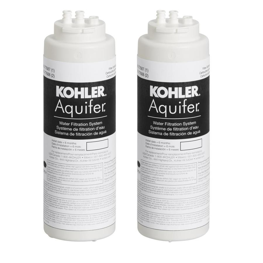 Shop kohler aquifier 2 pack under sink replacement filter at - Lowes water filter under sink ...