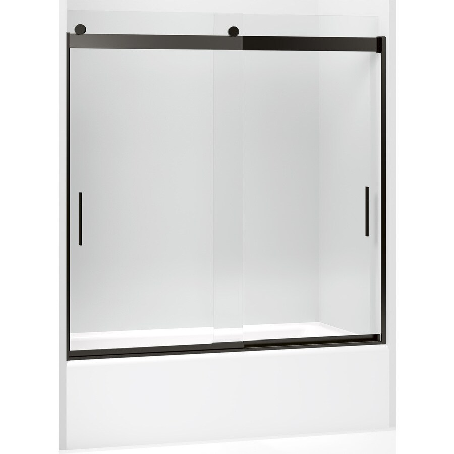 Kohler Levity 56 625 In To 59 625 In W Frameless Dark