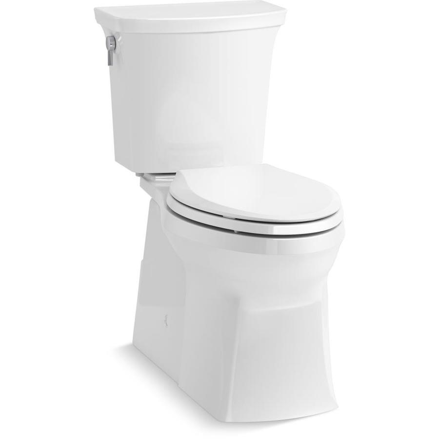 Kohler Transpose White Watersense Elongated Chair Height 2